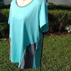 Women's Athletech Turquoise & Grey XL Sport Shirt